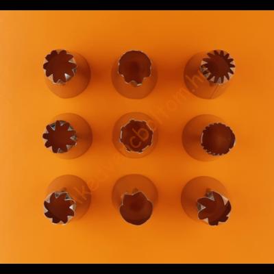 Díszítőcső szett 9 darabos