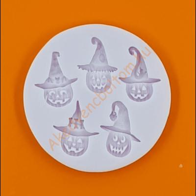 Szilikon forma halloween fejek