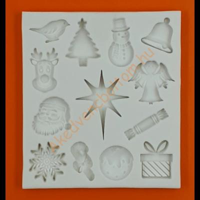 Szilikon forma karácsony 13r
