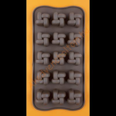 Szilikon csoki öntő forma csomó 15 darabos