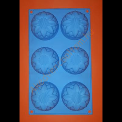 Hat darabos virág szilikon sütőforma