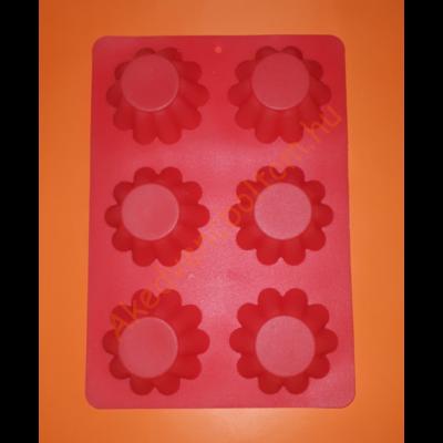Hat darabos kosárka szilikon sütőforma