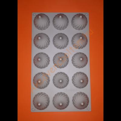 15 darabos szilikon mousse sütőforma